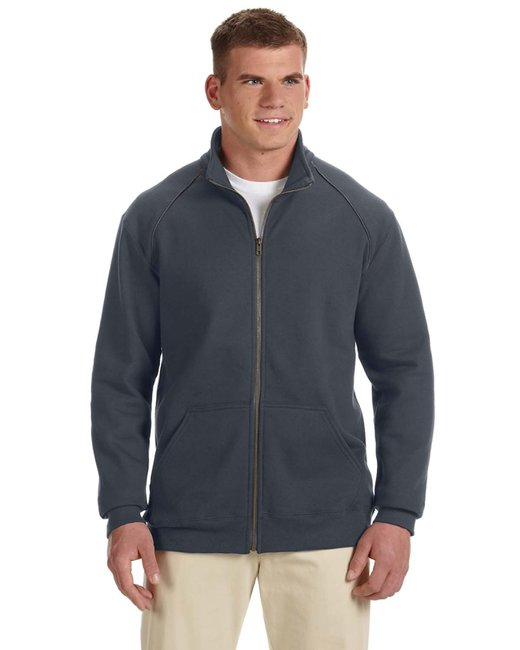 Gildan Adult Premium Cotton Adult 9 oz. Fleece Full-Zip Jacket - Charcoal