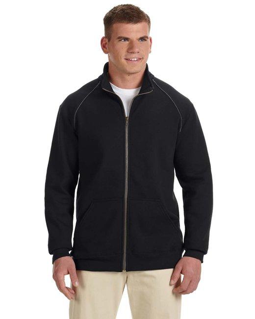 Gildan Premium Cotton 9 oz. Ringspun Fleece Full-Zip Jacket - G929 - Black - 2XL