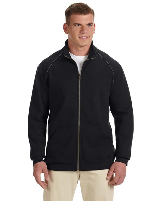 Gildan Adult Premium Cotton Adult 9 oz. Fleece Full-Zip Jacket - Black