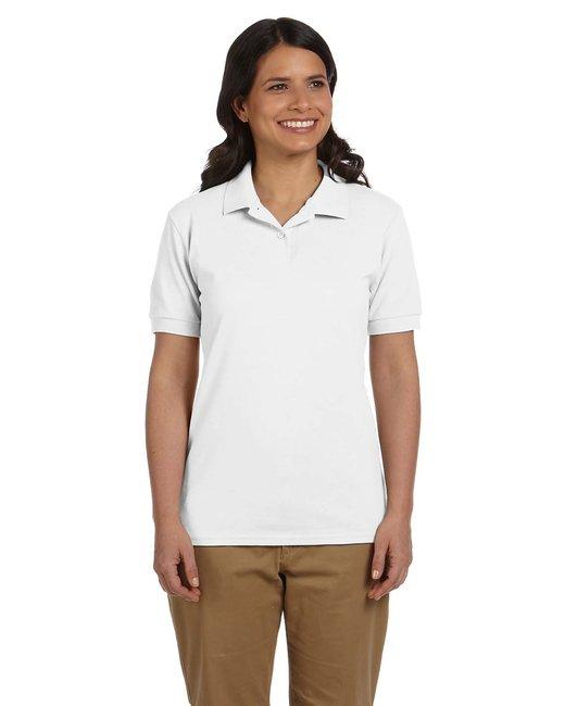 Gildan Ladies' 6.8 oz. Piqu Polo - White