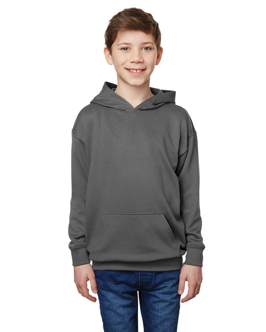 Gildan Performance Youth 7 oz.,  Tech Hooded Sweatshirt - Charcoal