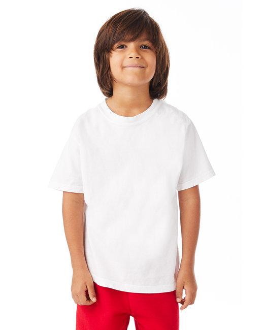 ComfortWash by Hanes Youth 5.5 oz., 100% Ring Spun Cotton Garment-Dyed T-Shirt - White Pfd
