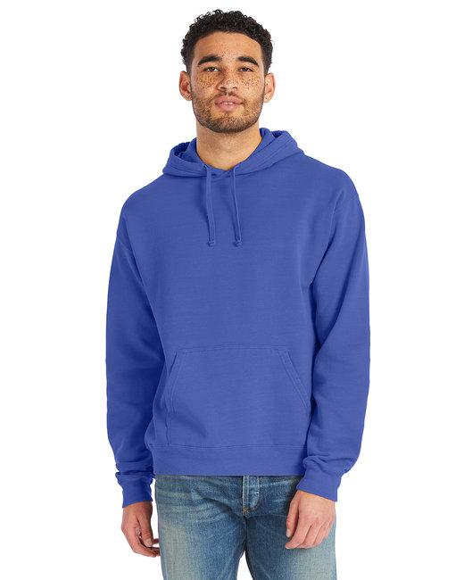 ComfortWash by Hanes Unisex 7.2 oz., 80/20 Pullover Hood Sweatshirt - Deep Forte