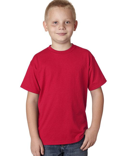 Hanes Youth 4.5 oz. X-Temp® Performance T-Shirt - Deep Red