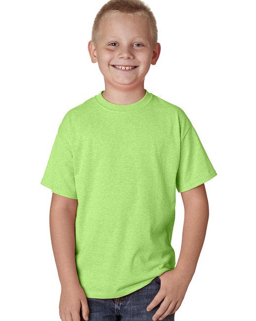 Hanes Youth 4.5 oz. X-Temp® Performance T-Shirt - Neon Lime Hthr