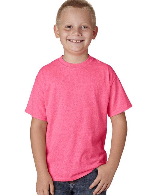 Hanes Youth 4.5 oz. X-Temp® Performance T-Shirt - Neon Pink Hthr