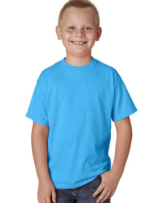 Hanes Youth 4.5 oz. X-Temp® Performance T-Shirt - Neon Bl Heather