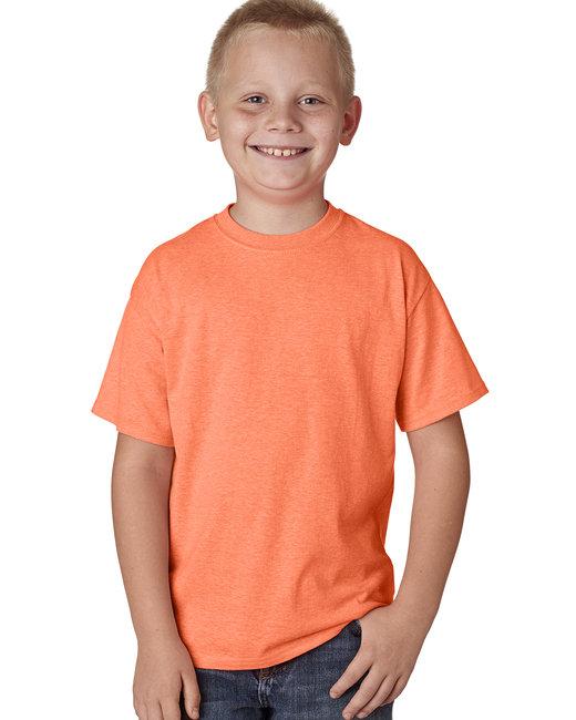 Hanes Youth 4.5 oz. X-Temp® Performance T-Shirt - Neon Ornge Hthr