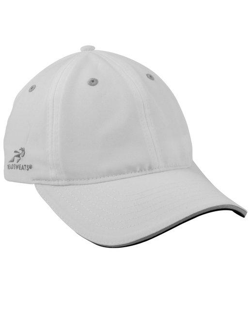 Headsweats Unisex Woven 6-Panel Podium Hat - White