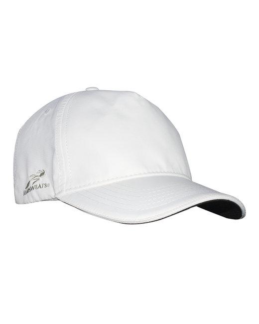 Headsweats Unisex Woven 5-Panel Podium Hat - White