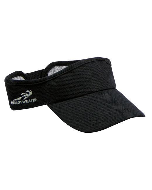 Headsweats Unisex Knit Velocity Visor - Black