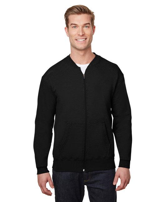 Gildan Hammer Adult 9 oz. Fleece Full-Zip Jacket - Black
