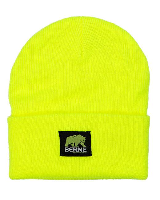 Berne Enhanced-Vis Knit Beanie - Hi Vis Yellow