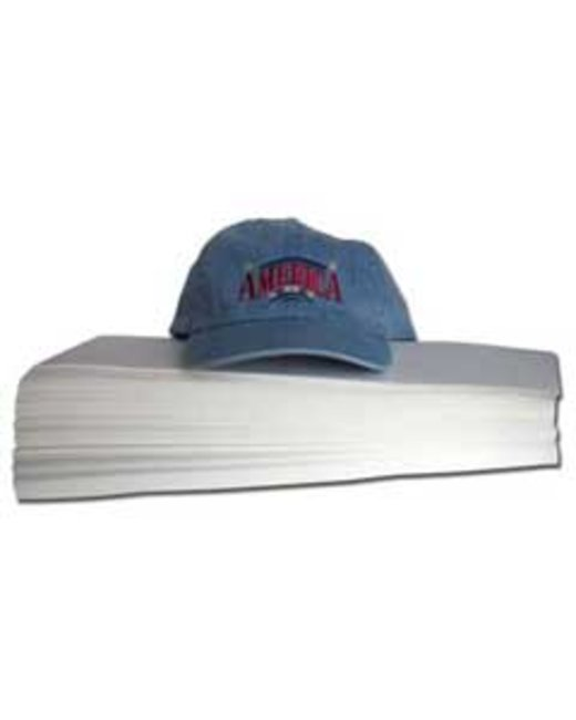 Decoration Supplies Heavy Weight Cap Backing - 3.75X8 250 Pack