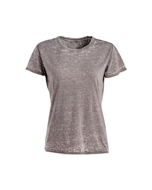 J America Ladies' Zen Jersey T-Shirt - Cement