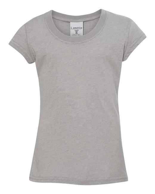 J America Youth Glitter T-Shirt - Oxford