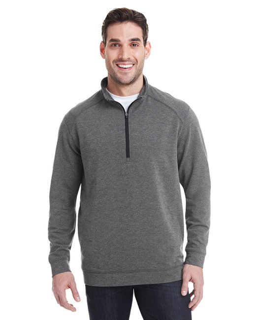 J America Adult Omega Stretch Quarter-Zip - Charcoal Trblnd