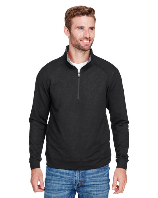 J America Adult Omega Stretch Quarter-Zip - Black