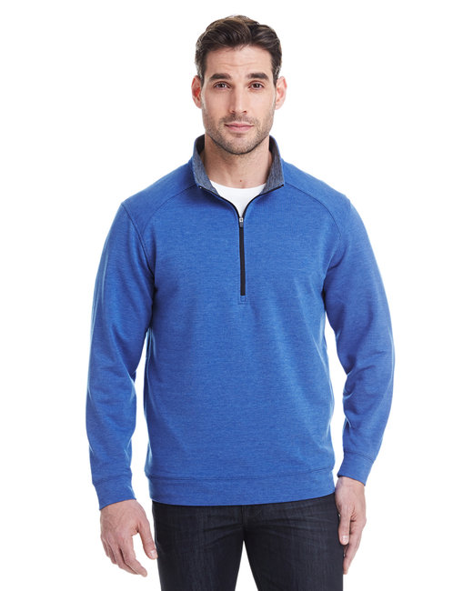 J America Adult Omega Stretch Quarter-Zip - Royal Triblend