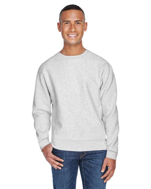 J America Adult Sport Weave Crew Neck Sweatshirt - Ash