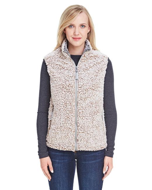 J America Ladies' Epic Sherpa Vest - Oatmeal Heather
