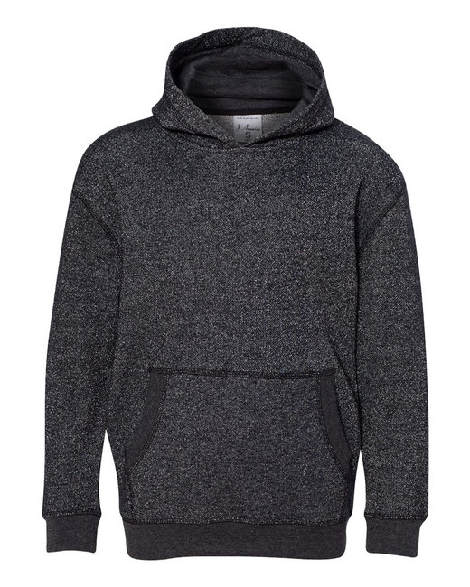 J America Youth Glitter French Terry Pullover Hood - Black