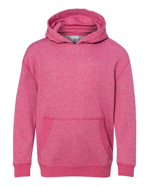 J America Youth Glitter French Terry Pullover Hood - Wildberry