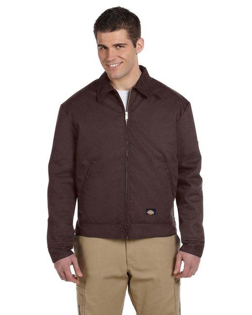 Dickies Men's 8 oz. Lined Eisenhower Jacket - Dark Brown