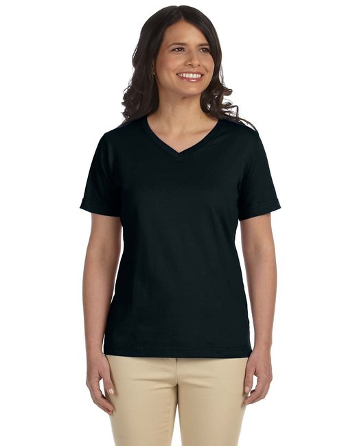 L-3587 LAT Ladies' Premium Jersey V-Neck T-Shirt