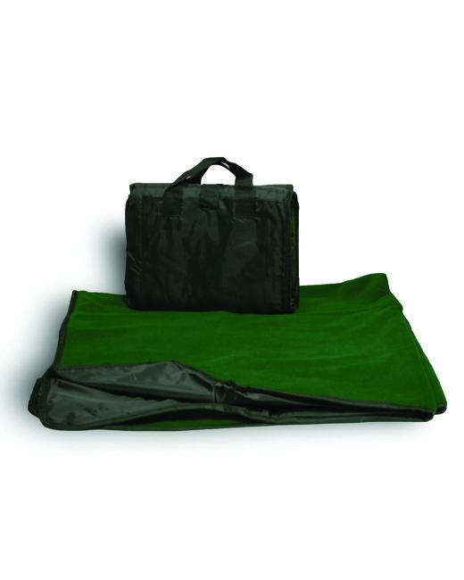 Alpine Fleece Fleece/Nylon Picnic Blanket - Forest Green