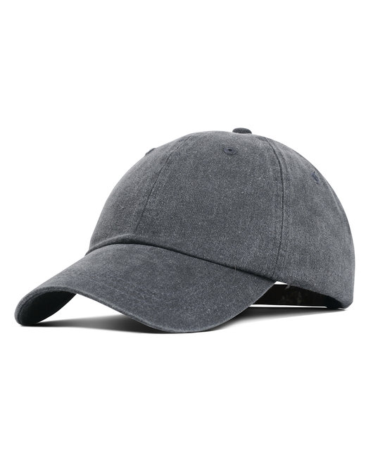Liberty Bags Washed Cotton Pigment-Dyed Cap - Charcoal
