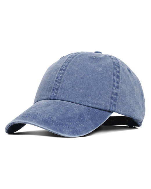 Liberty Bags Washed Cotton Pigment-Dyed Cap - Blue