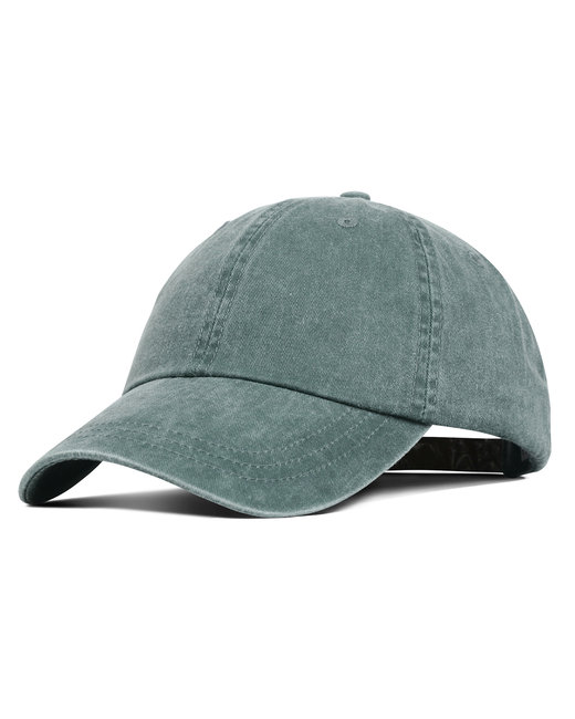 Liberty Bags Washed Cotton Pigment-Dyed Cap - Dark Green