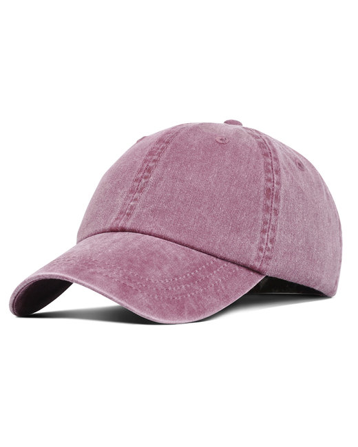 Liberty Bags Washed Cotton Pigment-Dyed Cap - Nantucket Red