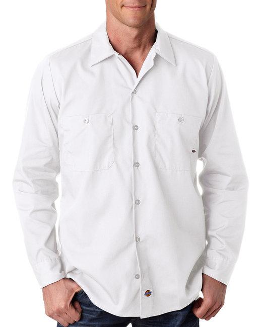 Dickies Men's 4.25 oz. Industrial Long-Sleeve Work Shirt - White