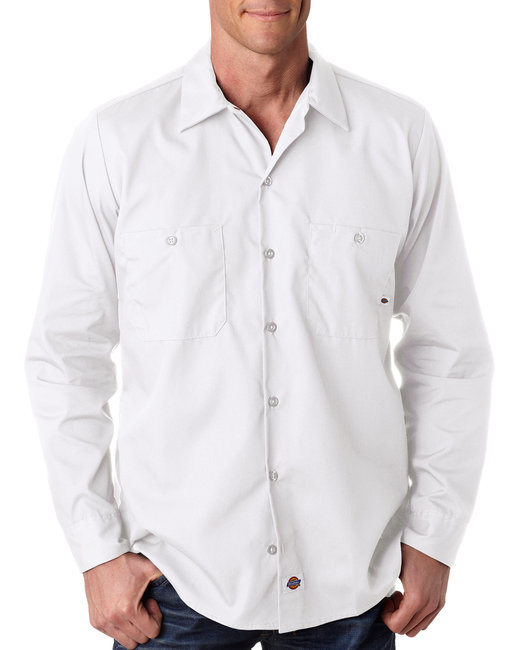 Dickies Men's 4.25 oz. Industrial Long-Sleeve Work Shirt - White
