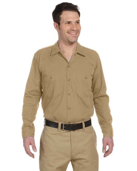 Dickies Men's 4.25 oz. Industrial Long-Sleeve Work Shirt - Desert Sand