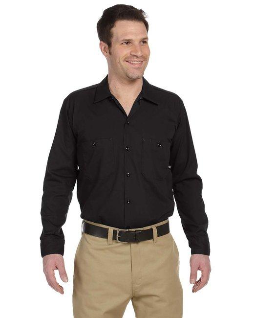 Dickies Men's 4.25 oz. Industrial Long-Sleeve Work Shirt - Black