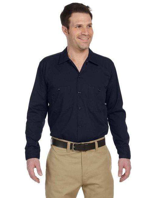 Dickies Men's 4.25 oz. Industrial Long-Sleeve Work Shirt - Dark Navy