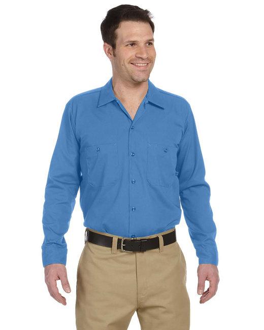 Dickies Men's 4.25 oz. Industrial Long-Sleeve Work Shirt - Light Blue