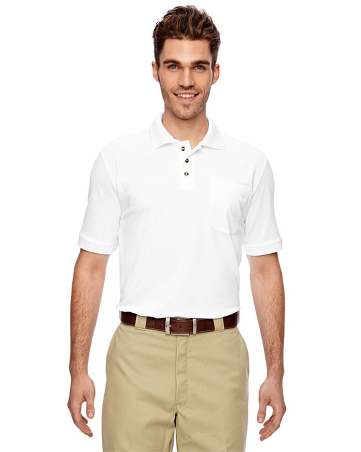 Dickies Men's 6 oz. Industrial Performance Polo - White