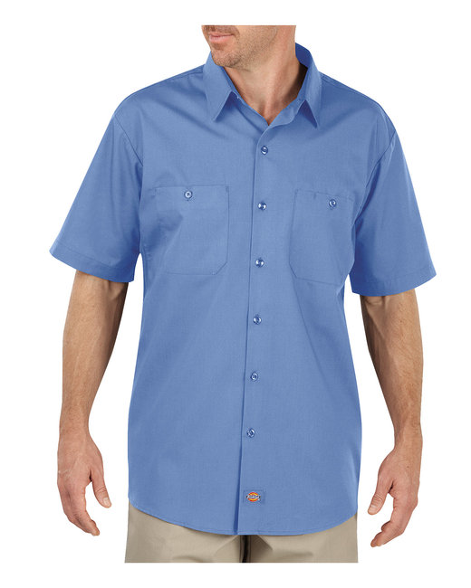 Dickies Men's 4.25 oz. MaxCool Premium Performance Work Shirt - Light Blue