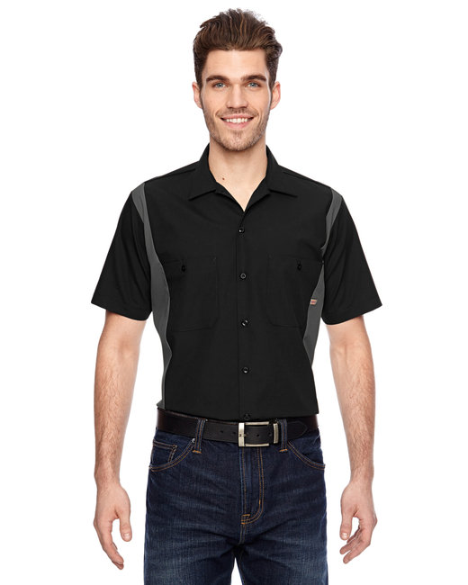 Dickies Men's 4.25 oz. Industrial Colorblock Shirt - Black/ Charcoal