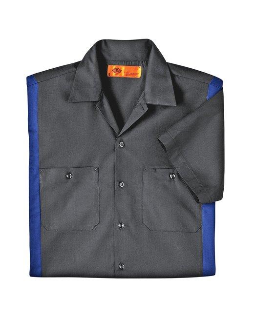 Dickies Men's 4.25 oz. Industrial Colorblock Shirt - Chrcl/ Roy Blue