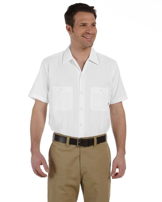 Dickies Men's 4.25 oz. Industrial Short-Sleeve Work Shirt - White