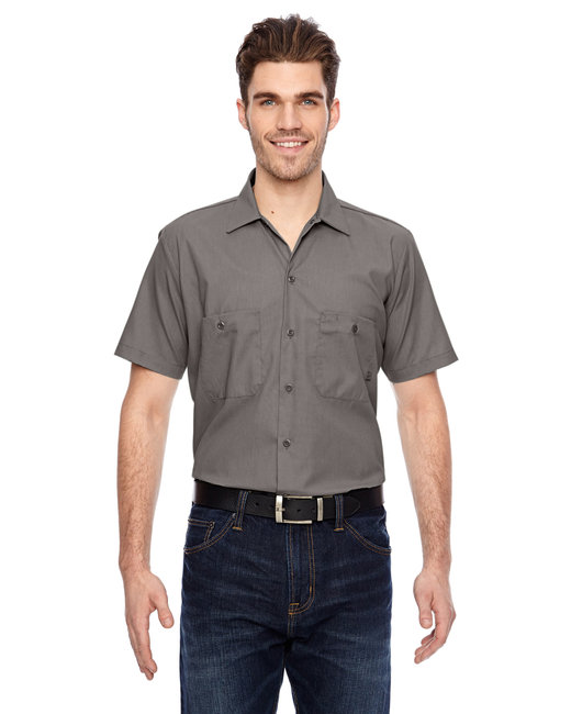 Dickies Men's 4.25 oz. Industrial Short-Sleeve Work Shirt - Graphite Grey