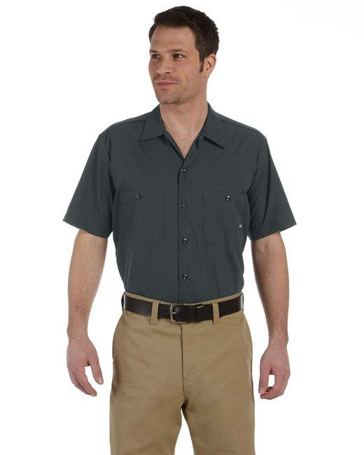 Dickies Men's 4.25 oz. Industrial Short-Sleeve Work Shirt - Charcoal