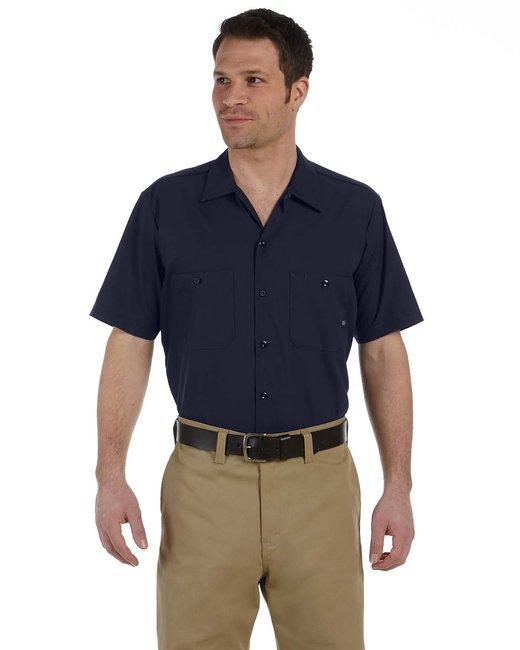 Dickies Men's 4.25 oz. Industrial Short-Sleeve Work Shirt - Navy