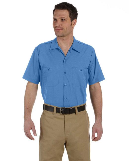 Dickies Men's 4.25 oz. Industrial Short-Sleeve Work Shirt - Light Blue