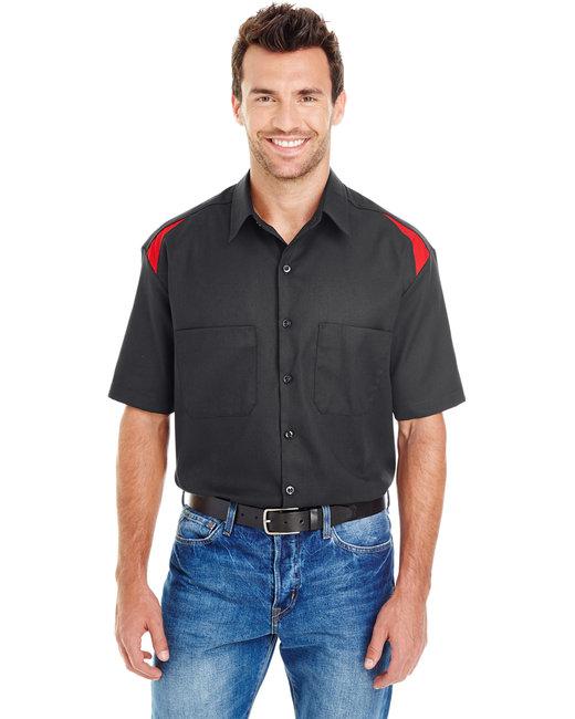 Dickies Men's 4.6 oz. Performance Team Shirt - Black/ Eng Red